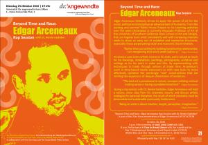 Beyond Time and Race: Edgar Arceneaux Rap Session